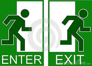 enter and exit